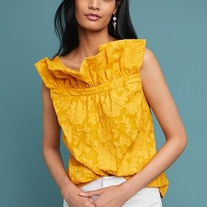 NEW Anthro Tracy Reese whitney ruffled floral top